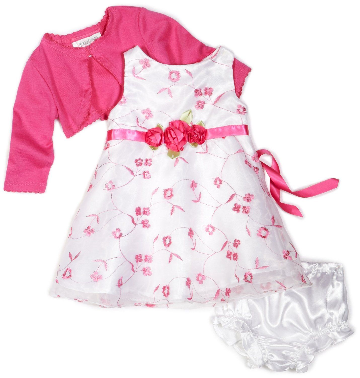 Child Of Mine by Carter's Newborn Baby Girl Dress And Cardigan ...