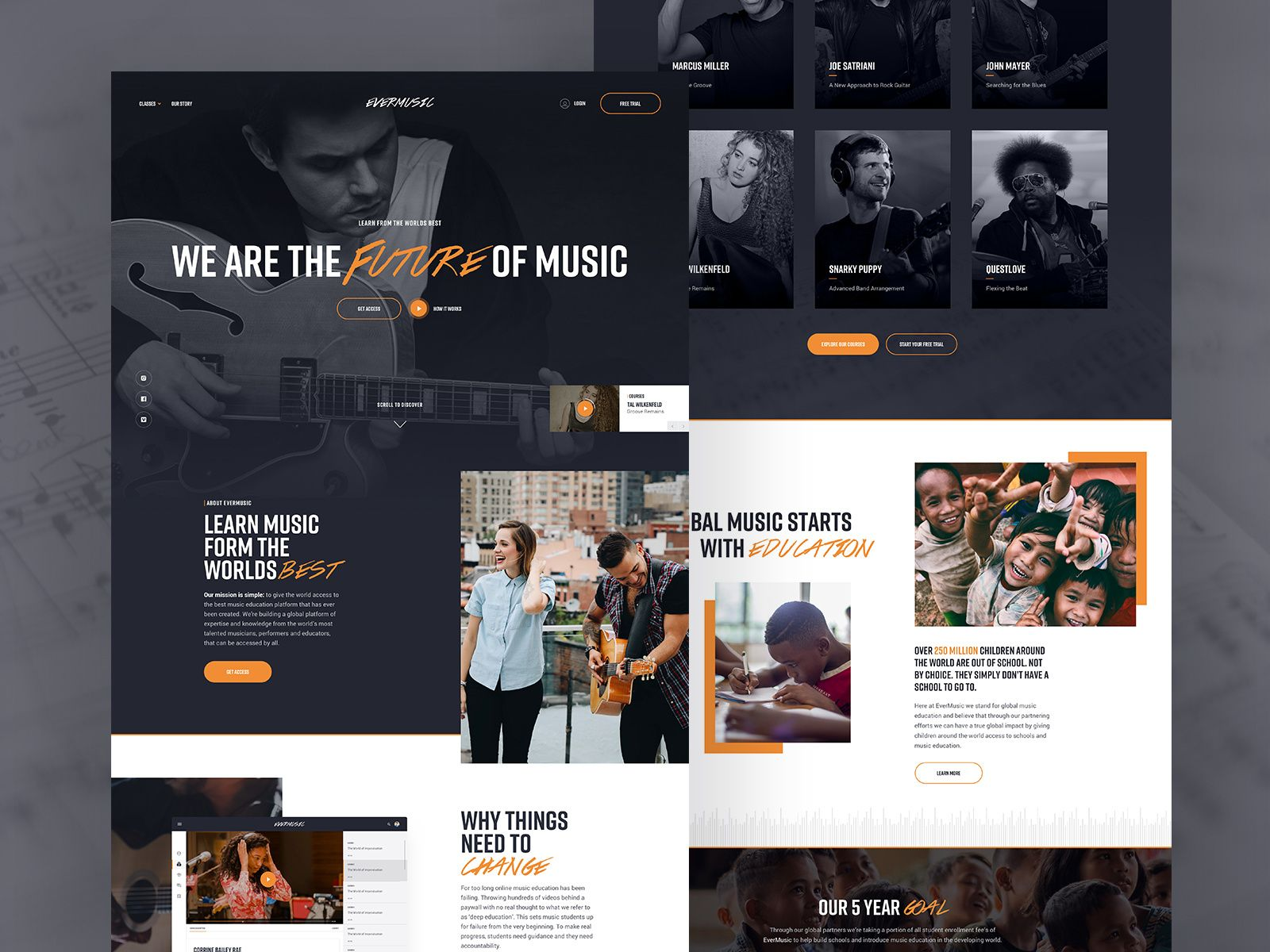 Music Landing Page Interactive Web Design Landing Page Landing Page Inspiration