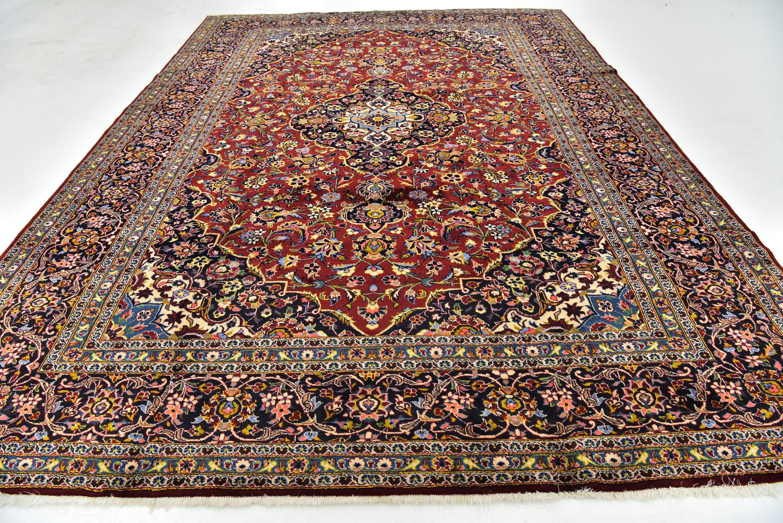 Red 9 7 X 13 Kashan Persian Rug Ad Red Kashan Rug Persian Sponsored Persian Rug Rugs Persian