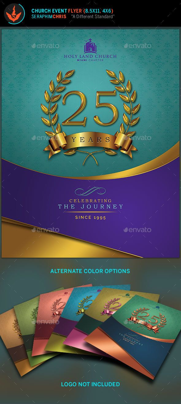 Regal Gold Lavender Plus Teal Anniversary Flyer  Lavender Teal