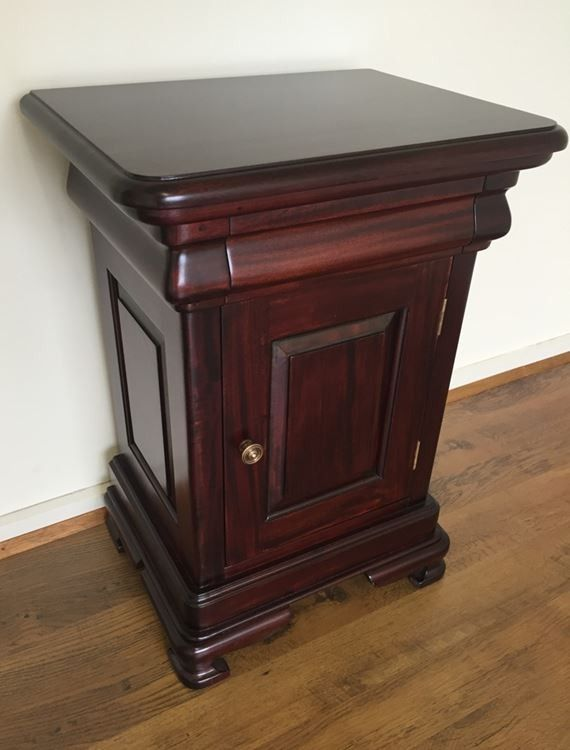 Antique Style Mahogany Timber Vanessa Bedside Table With Images