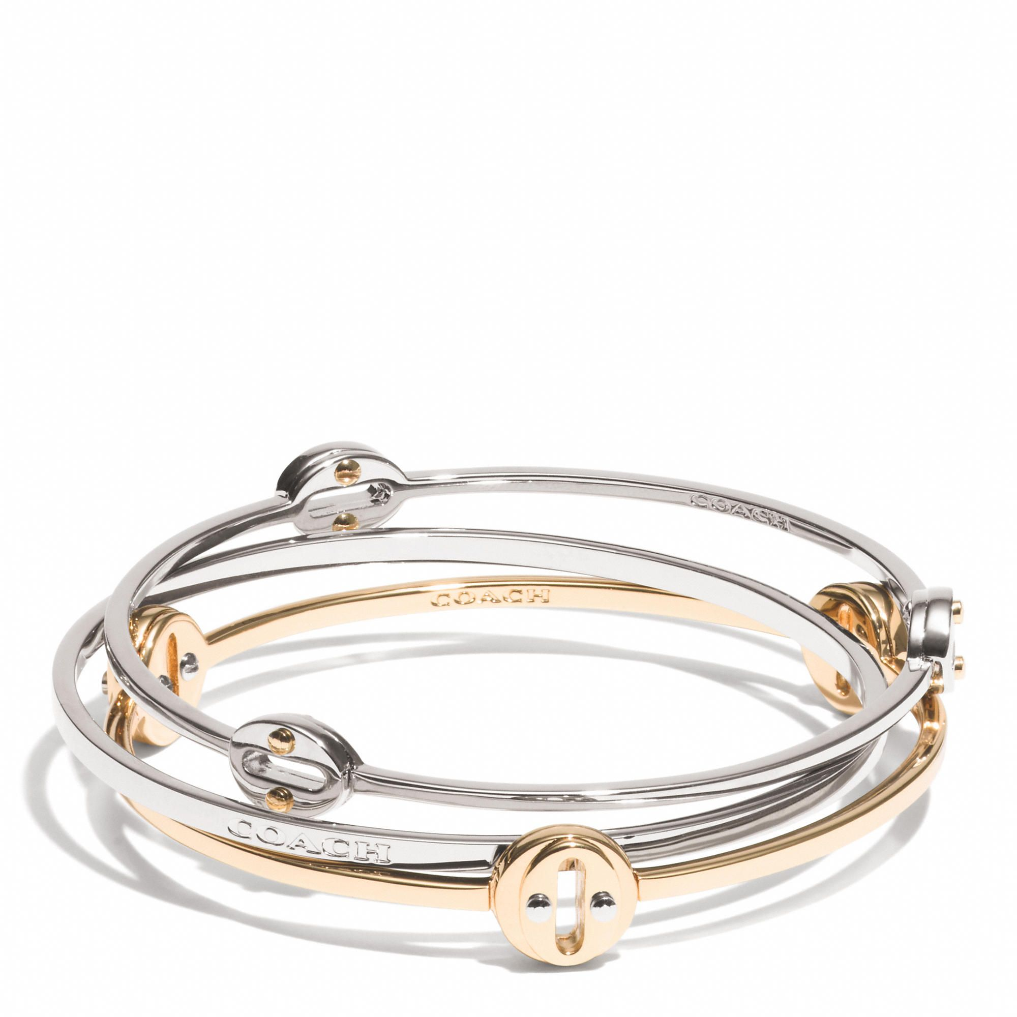 Coach Oval Bangle Set Accessories Pinterest Bangle Set Bangle