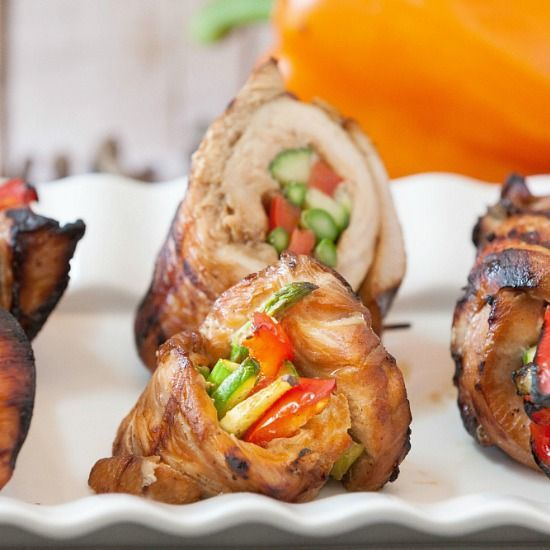 Grilled Korean Turkey Roll Ups - a low-carb dinner option.
