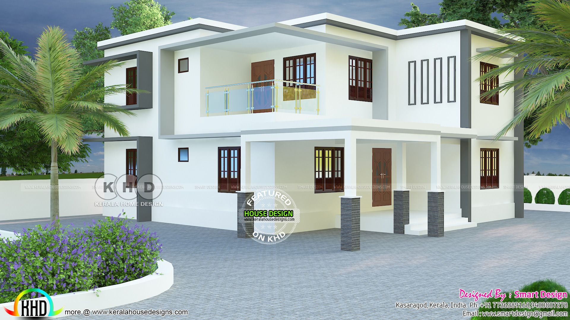 2466 Sq Ft True Flat Roof House Plan Flat Roof House House Floor Plans House Plans