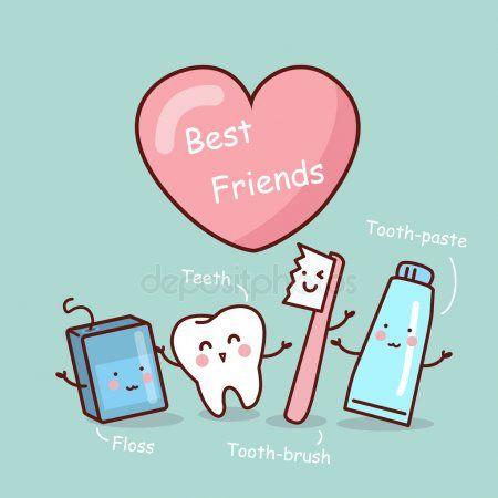 Amigo De Dente Feliz Dos Desenhos Animados Dentes Desenho