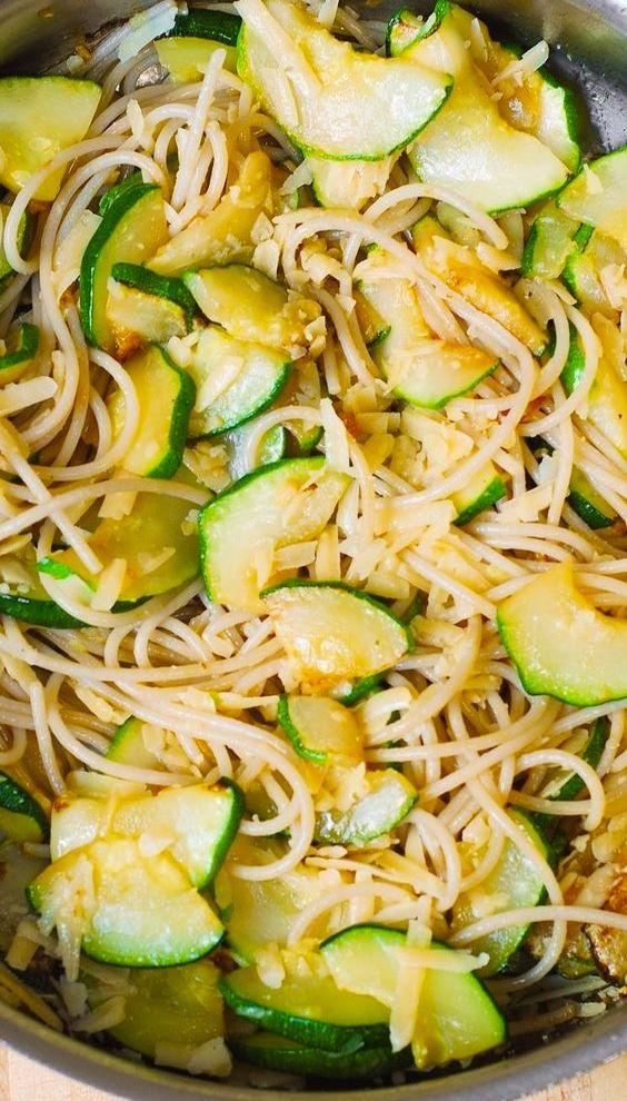 Parmesan Zucchini Garlic Pasta Light Delicious Summer