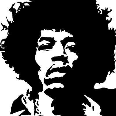 Amazing Stencils Jimi Hendrix Stencil Jimi Hendrix Art Pop Art Pop Art Portraits