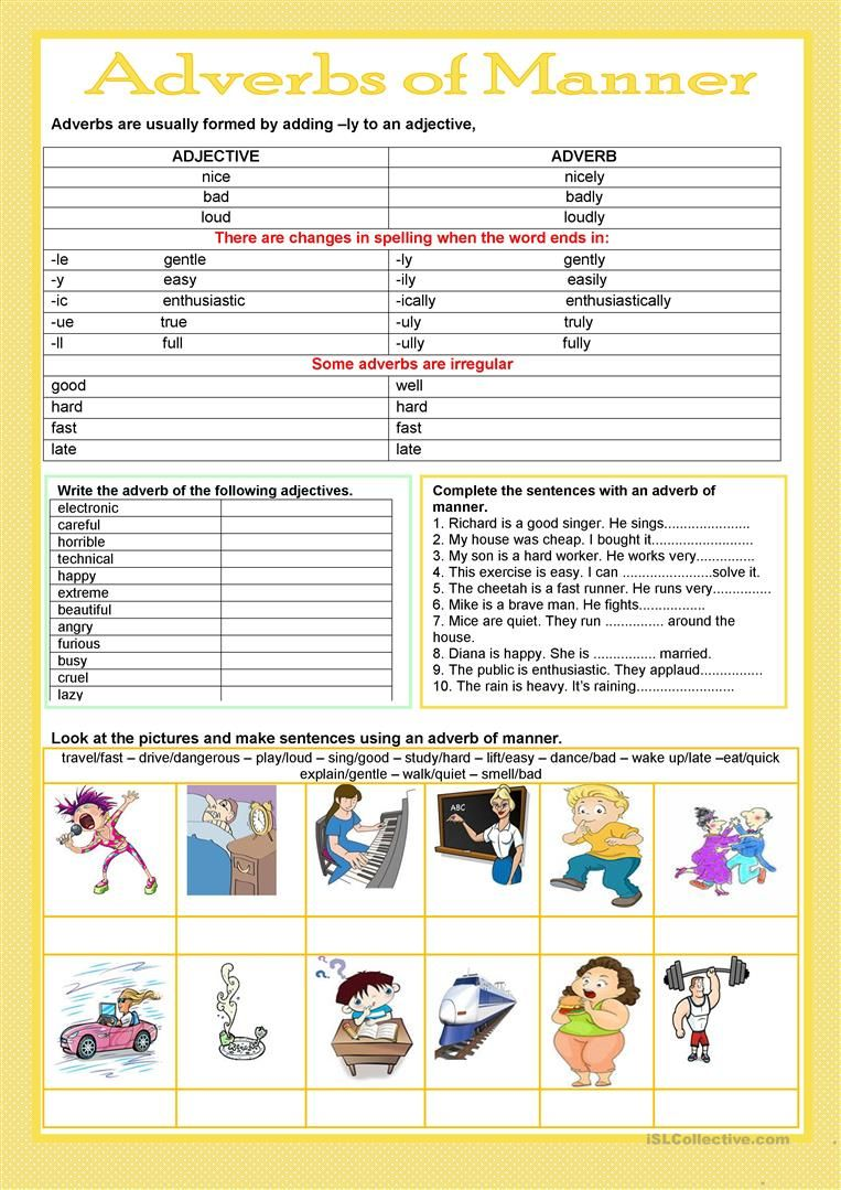 hight resolution of Adverbs of manner worksheet - Free ESL printable worksheets made by  teachers   Adverbs