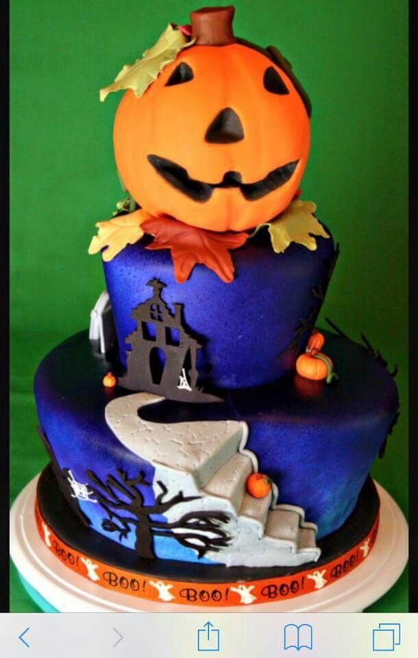 Stairs scene fondant halloween cake halloween Pinterest