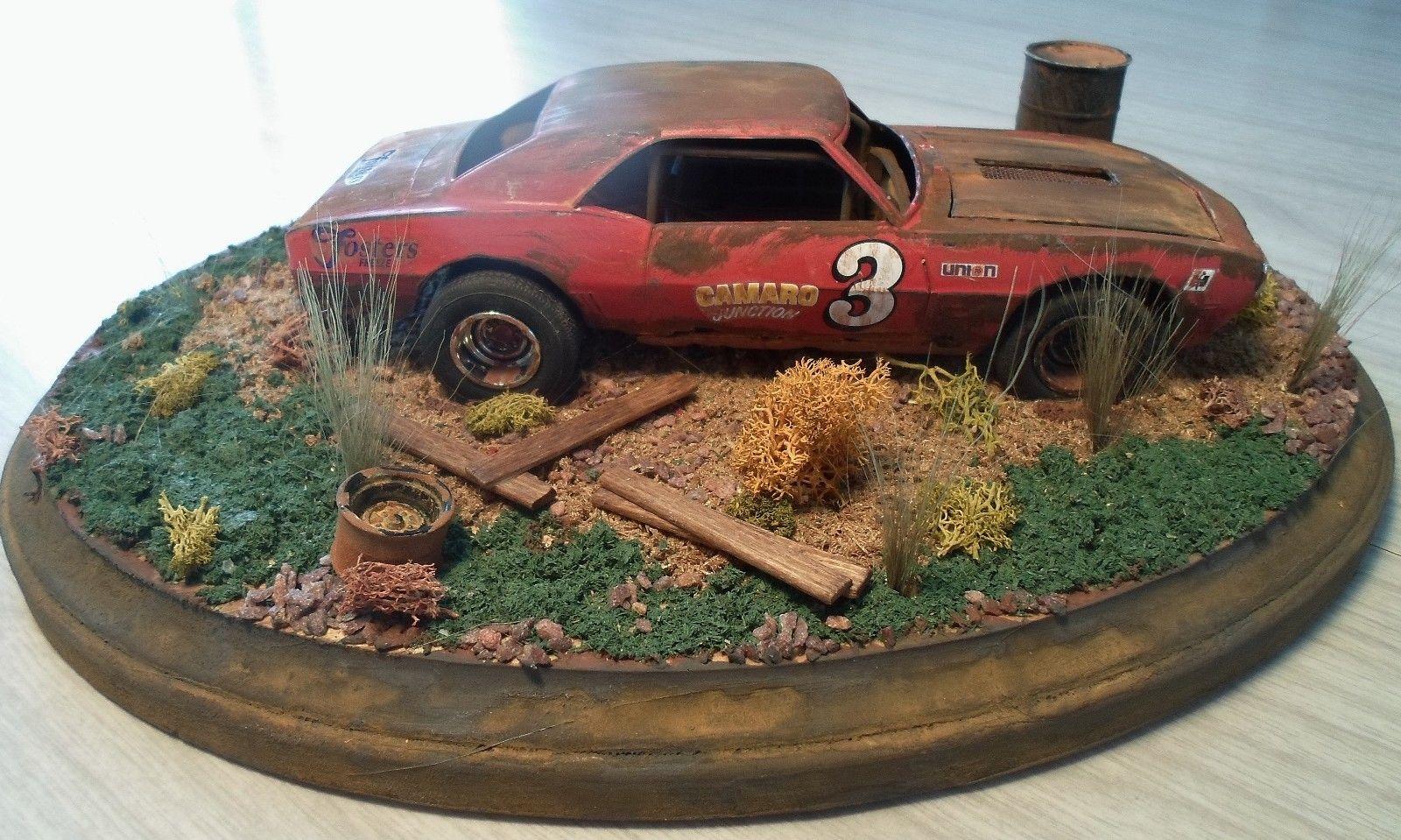 1 24 1 25 Barn Garage Diorama For Sale On Ebay: 1 24 Scale Built Diorama Junk Yard Vintage Race Car Barn
