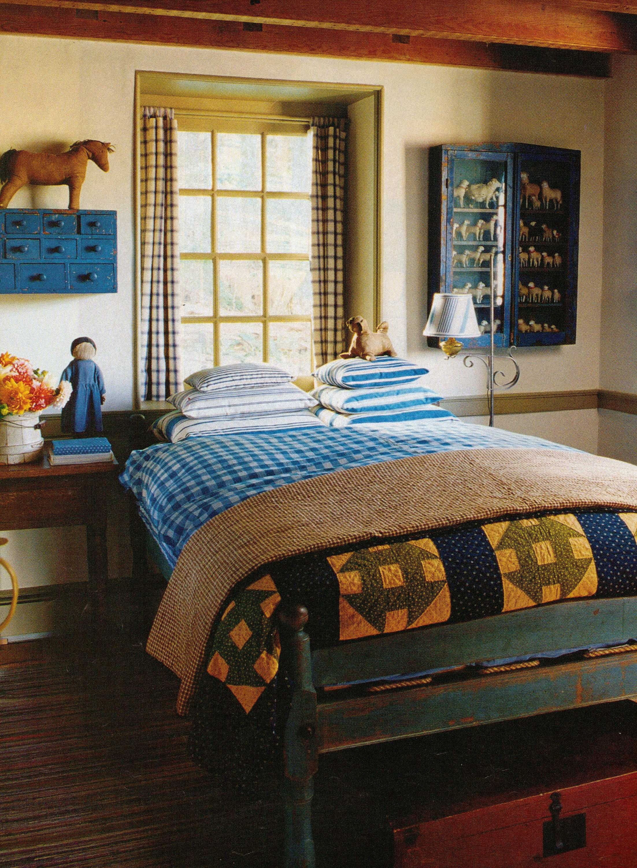 cheap primitive country bedroom decorating ideas | Prim Bedroom...old quilts & prim sheep collection on the ...