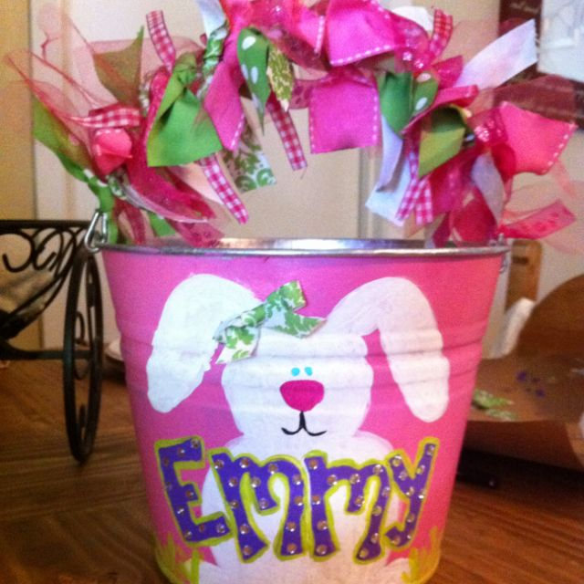 Hand Painted Easter Bucket Products I Love Pinterest