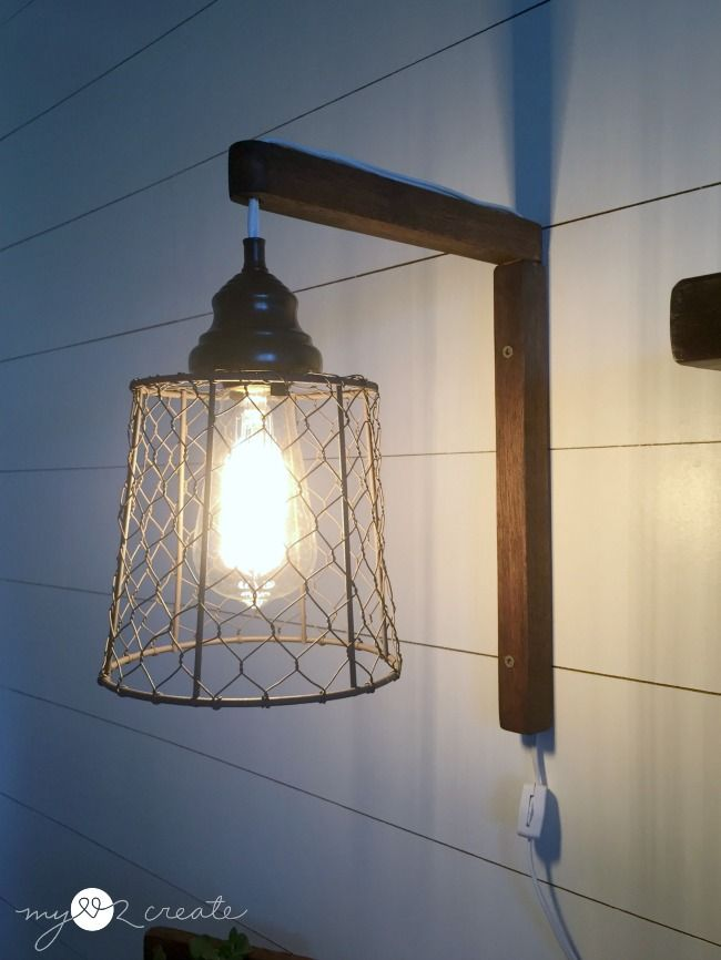 DIY Plug-in Sconces from pendant lights tutorial at MyLove2Create & DIY Plug-in Sconces from pendant lights tutorial at MyLove2Create ...