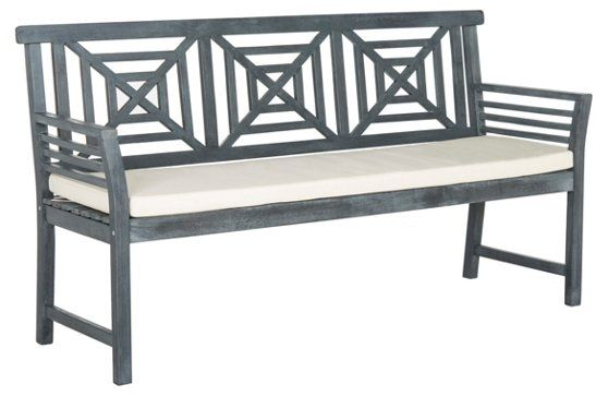 Outdoor Angelina 3 Seat Bench Gray Outdoor Seating