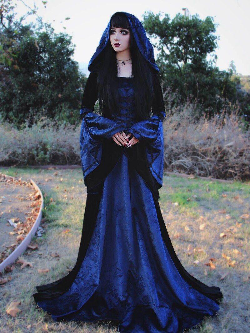 Navy Blue Gothic Dress