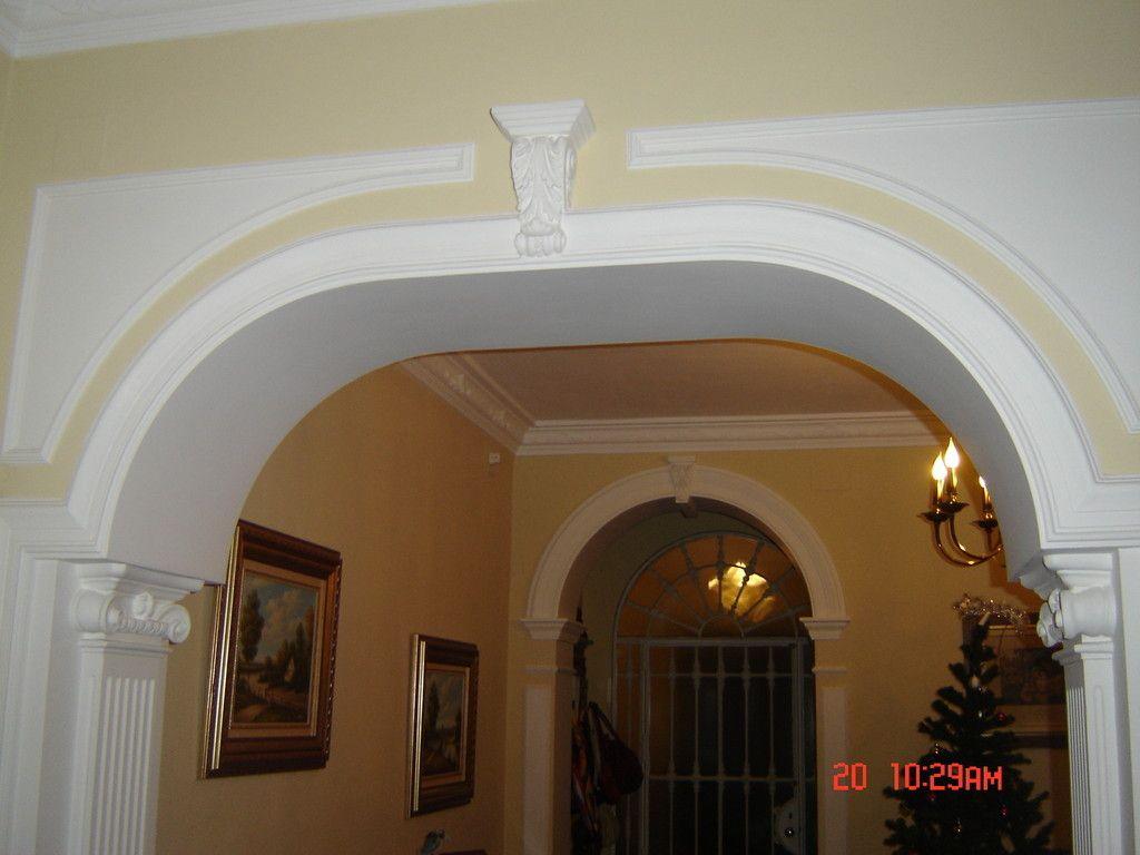 Resultado de imagen para molduras en yeso para arcos - Arcos decorativos para puertas ...