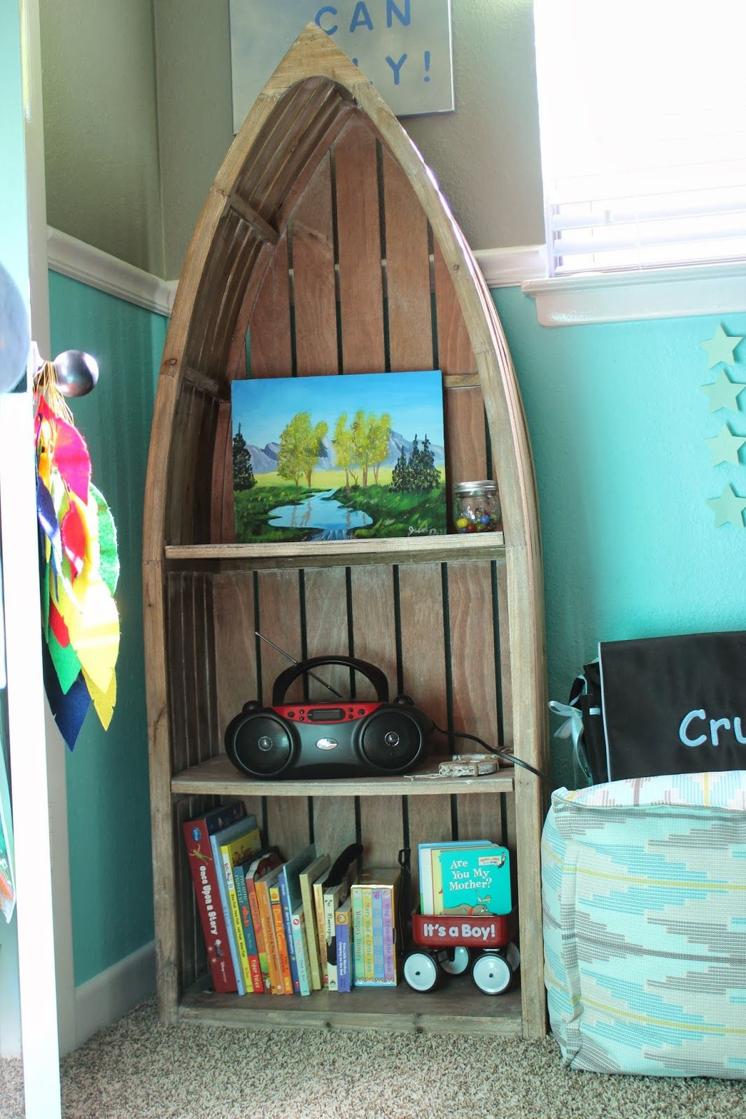 This Neverland Themed Nursery Features A Beautiful Blue