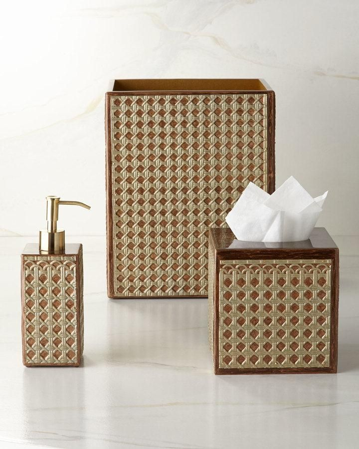 Provence Vanity Accessories Provence Bath Accessories Mimic The Look Of Woven Cane 175 Bathroom Accessories Design Bathroom Accessories Vanity Accessories