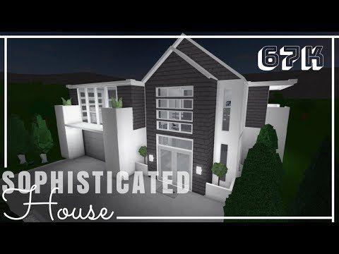 Roblox Bloxburg Sophisticated House No Advanced Placing Youtube House House Blueprints Luxury House Plans