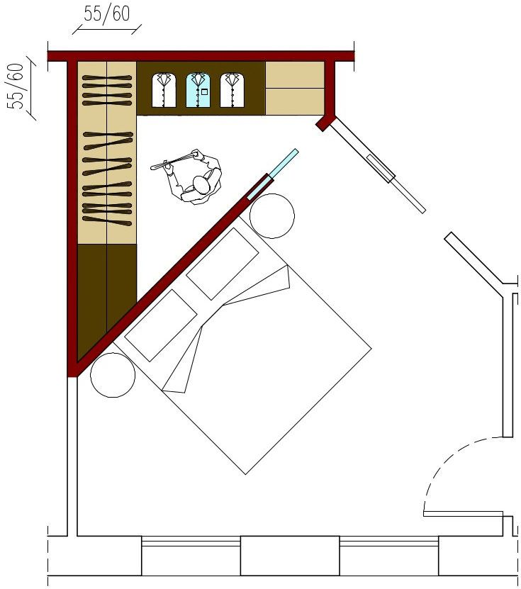 cabina armadio camera piccola quadrata - cerca con google ... - Misure Armadio Camera Da Letto