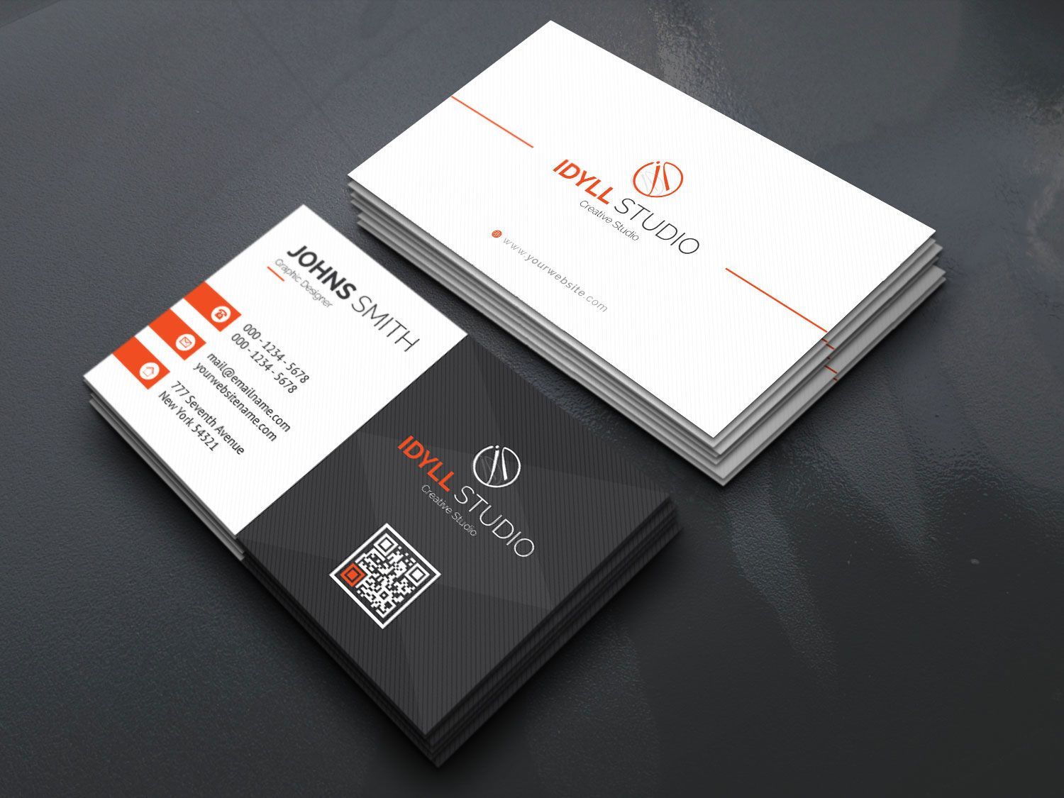 Vector Name Card Template 5 Business Card Design Business Card Template Business Card Template Design