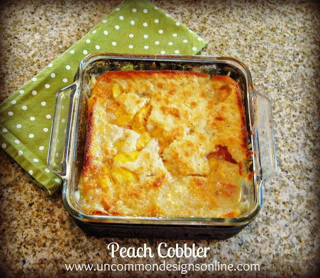 The Best {and easiest} Peach Cobbler Recipe Ever... - Uncommon Designs... #BHGSummer