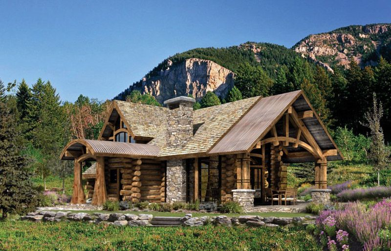 Rustic Architecture Integrates Easily In The Environment Log Home Floor Plans Log Cabin Floor Plans Log Home Plans