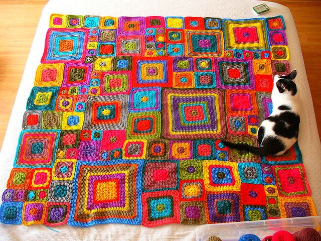 Babette Blanket pattern by Kathy Merrick   Manta, Colchas y Ganchillo