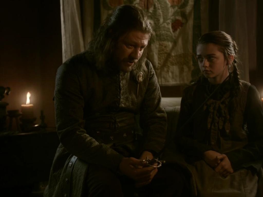 Arya Stark & Eddard Stark