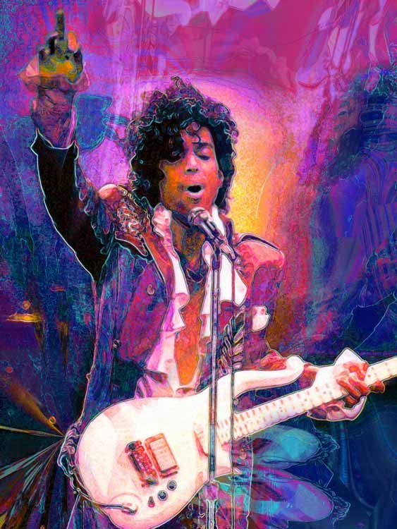 Prince Large 20 X 15 Fine Rock And Roll Art Giclee