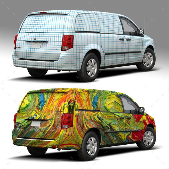 car wrap templates free download - 2014 dodge caravan wrap mockup mockup and font logo