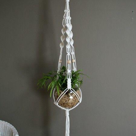 White Macrame Plant Hanger from theknotstudio.com.au