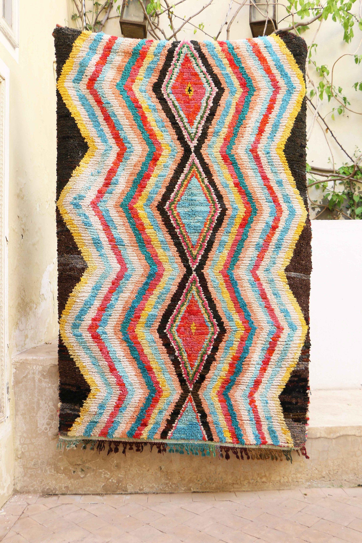 4'1 x 6'3 BOUCHEROUITE Boucherouite Rug Marocco