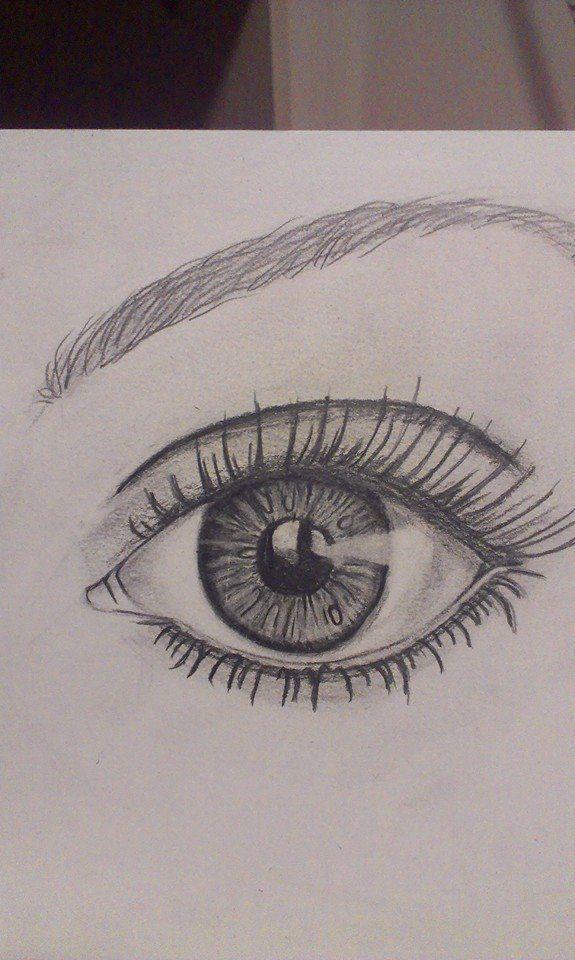 Oeil dessin oeil que je dessine dans mon temps libre. - #Dr ... - #Dr #draw #drawing #Eye #free