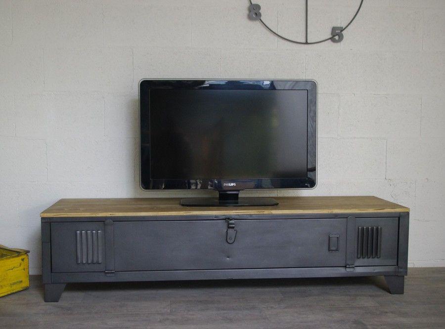 meuble tv vestiaire plateau epicea 1