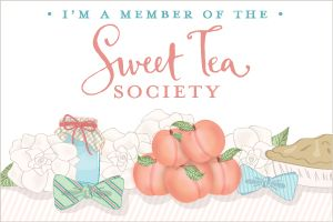 Use these badges on your blog or site to show you're a member of the Sweet Tea Society!