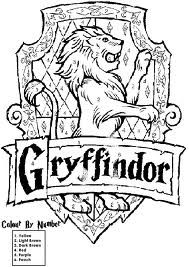 Gryffindor Crest Coloring Page Google Search Harry Potter