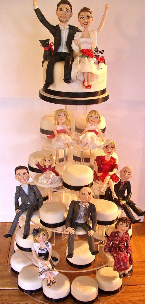 Wedding party mini cake tower
