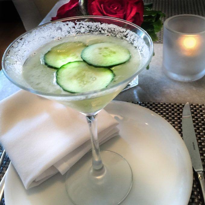 Cucumber Martini With Elderflower Liqueur