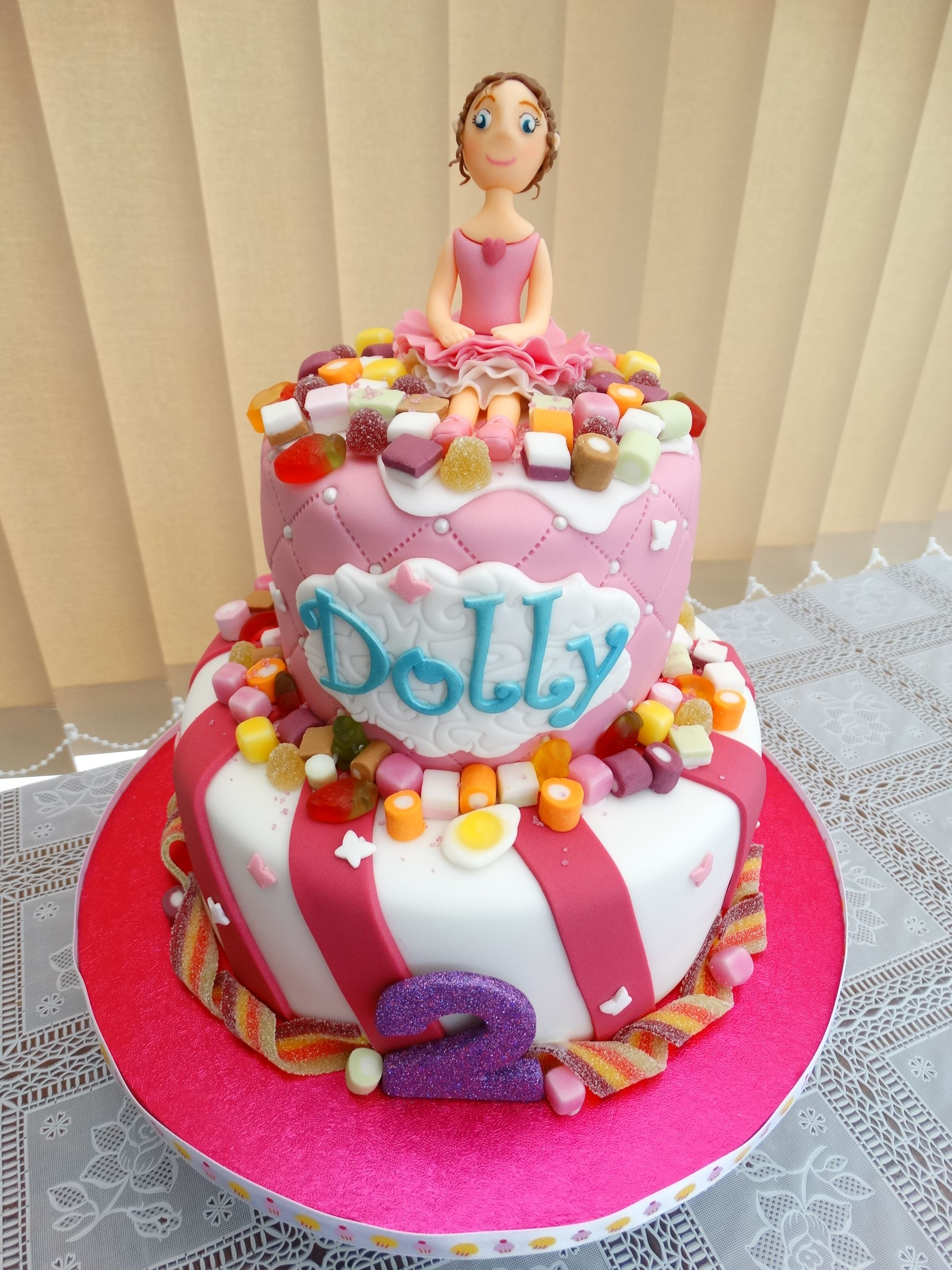 Ballerina with Dolly Mix Cake xMCx