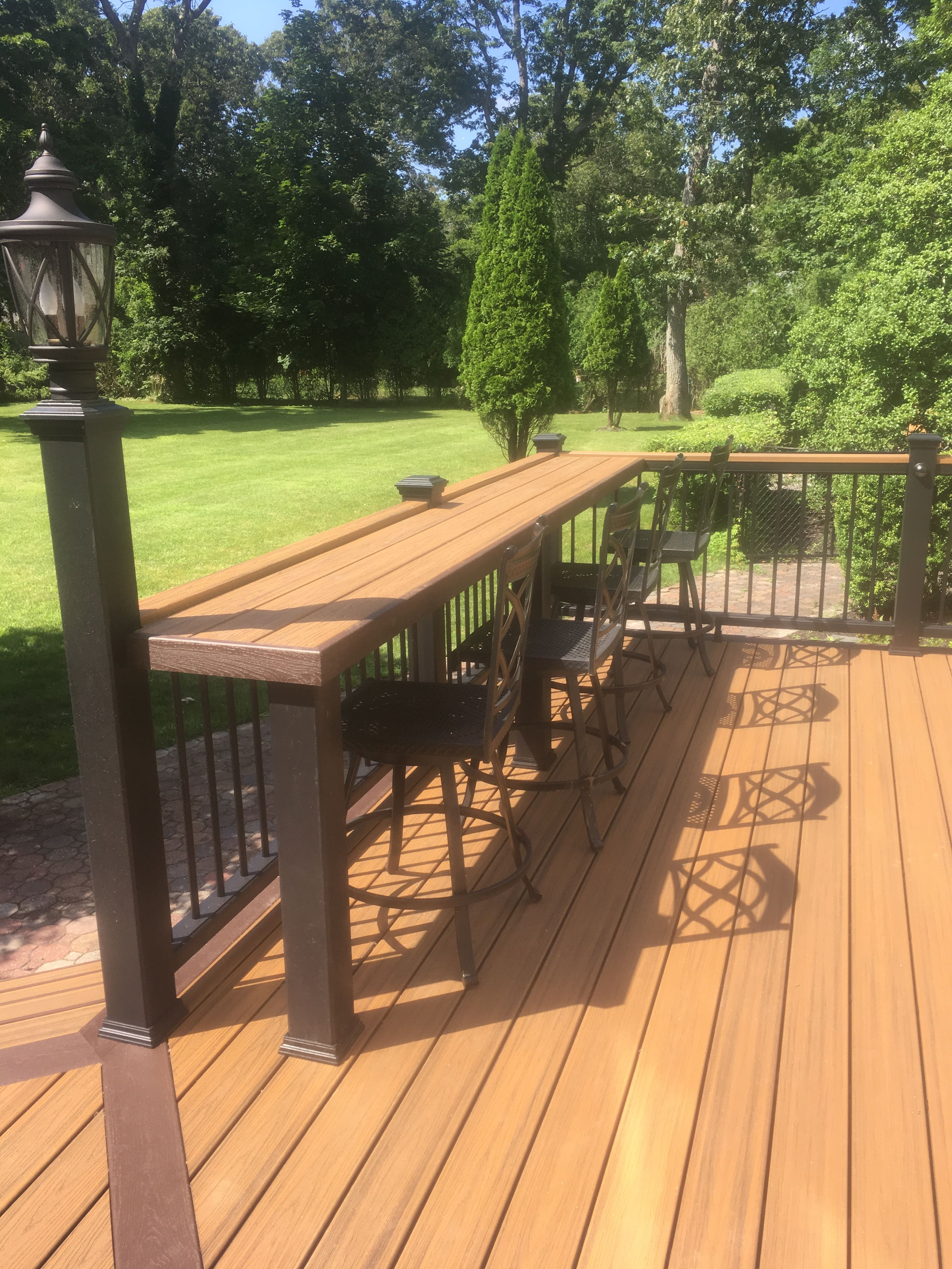 Bar Rail Deck Decorating, Back Patio, Backyard Patio, Outdoor Living,  Outdoor Rooms