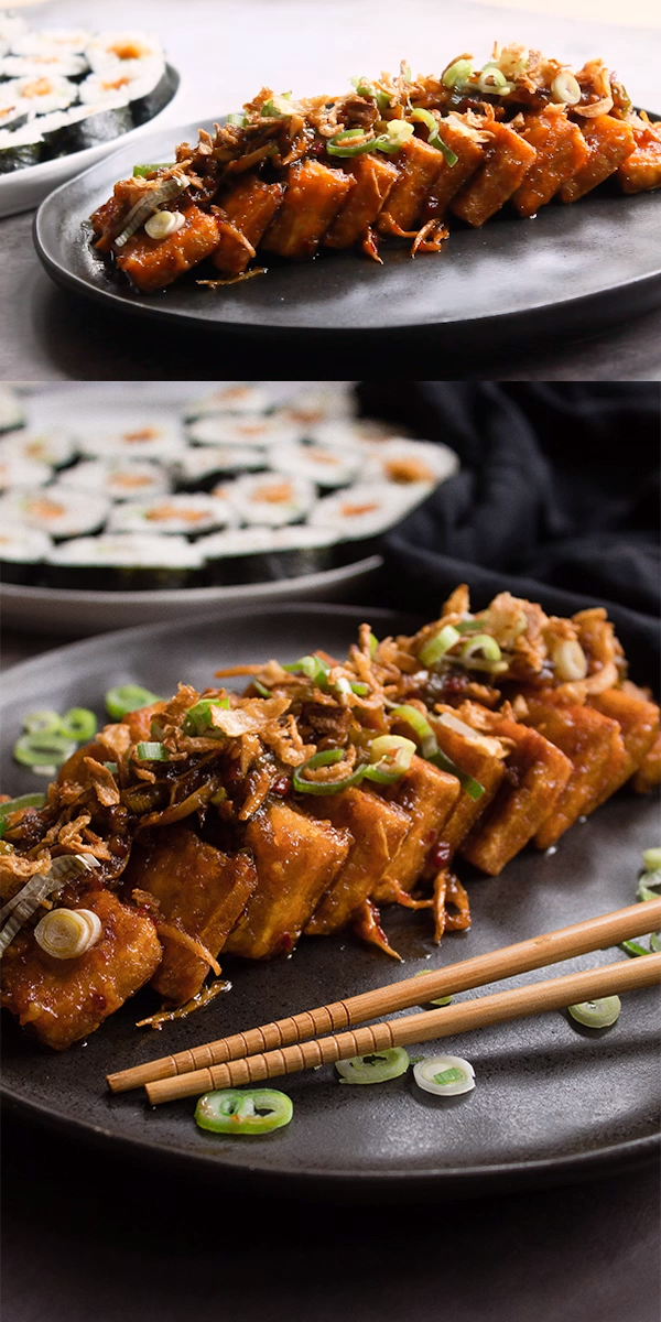 Vegan teriyaki tofu | Recipe - Eating Vegan With Me