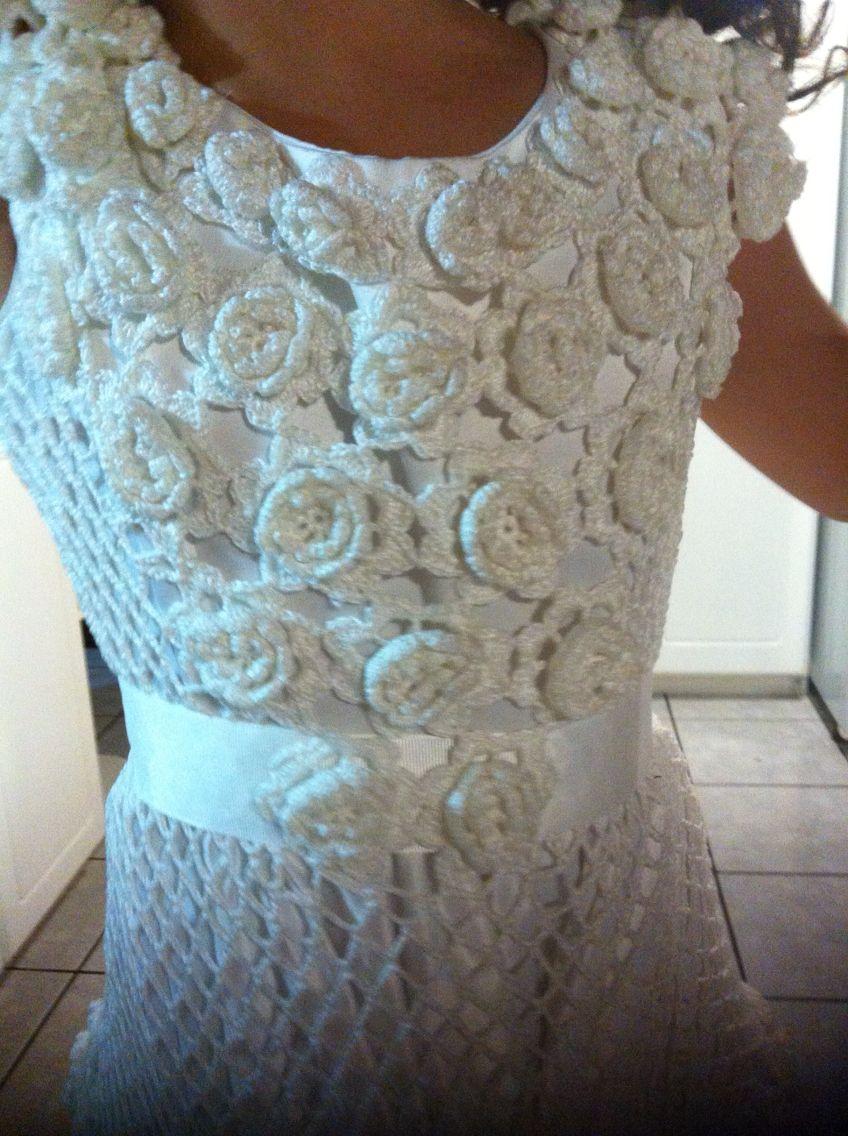 vestidos de primera comunion hechos a crochet