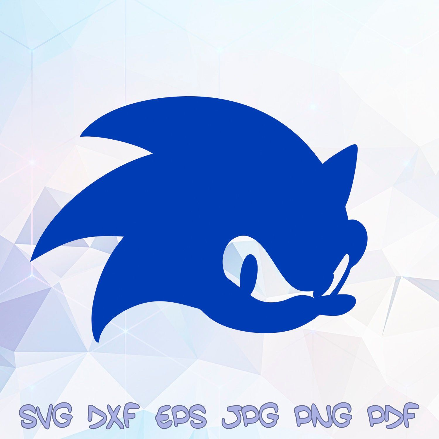 Sonic Head The Hedgehog Svg Silhouette Cricut Birthday Party Stencil Dxf Paper Crafts Vector Tshirt Clipart Bday Supplies Iron On Transfe Disenos De Unas Fondos