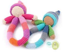 doll dolls rattle  knitted baby toys