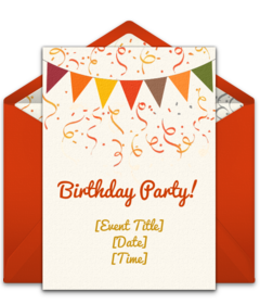 FREE Fall Party Invitations Tons Of Seasonal Online You Can Personalize And Send Via Email Love This Birthday Invite