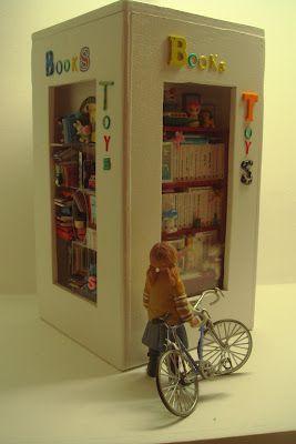Escenas sobre el libro y la literatura... en miniatura: Miniature book shop