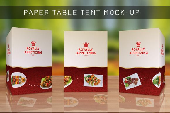 Table Tent Mock-up Template Vol8 by itembridge creative store on - table tent template