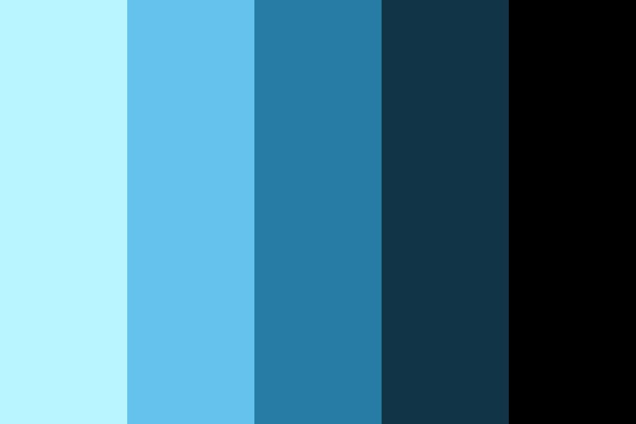 Neon Blue On Black Color Palette In 2020 Black Color Palette Blue Black Color Blue Colour Palette