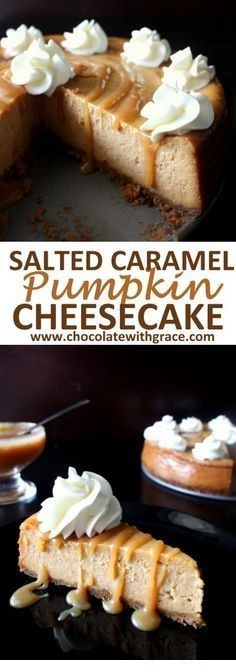Salted Caramel Pumpkin Cheesecake     - Yummy Sweets!! -